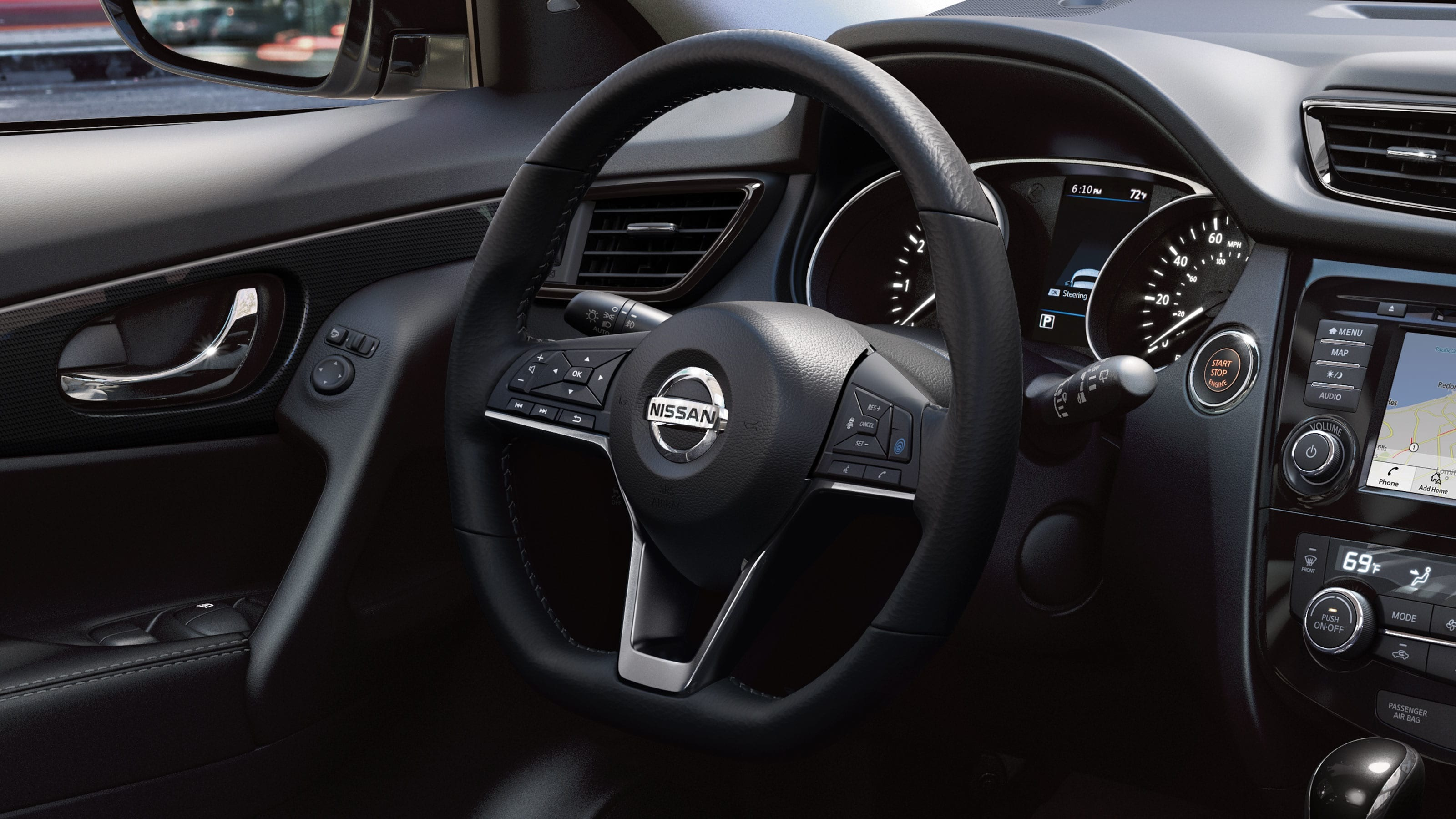2019 Nissan Rogue Leather-Wrapped Steering Wheel