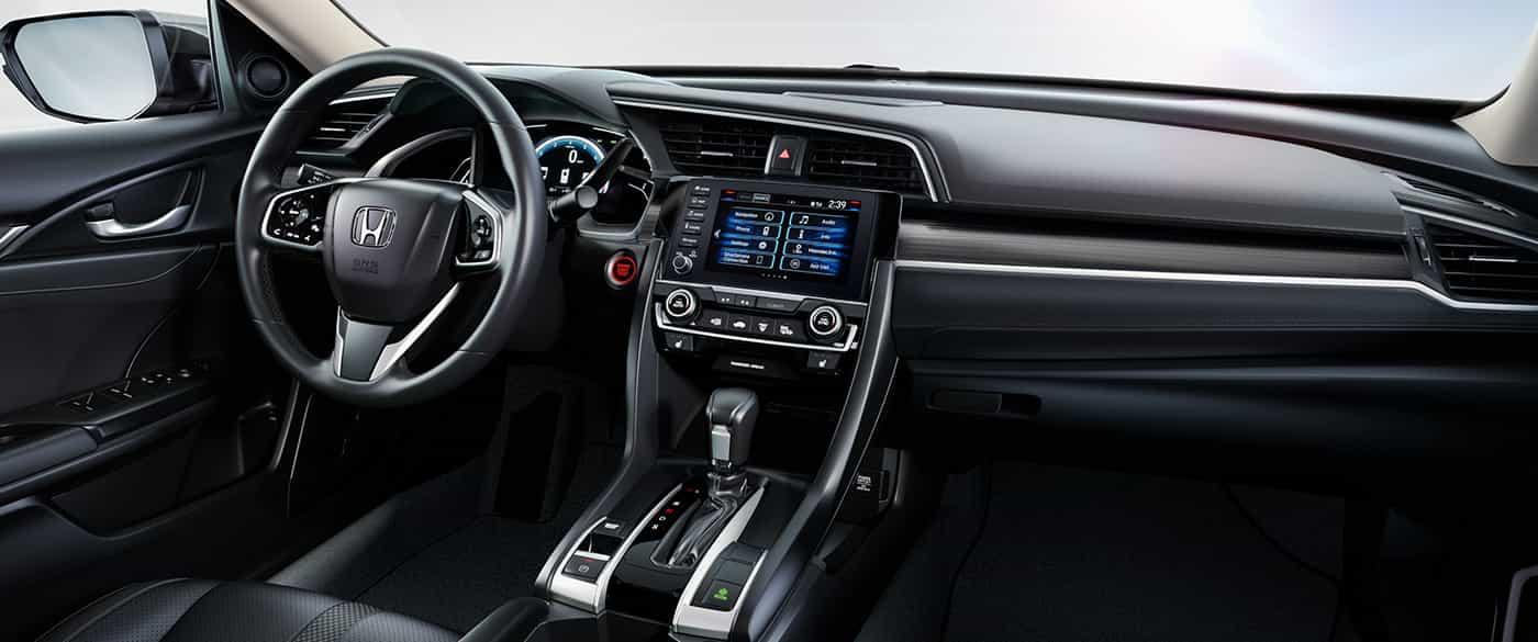 El cómodo y elegante interior del Honda Civic 2019