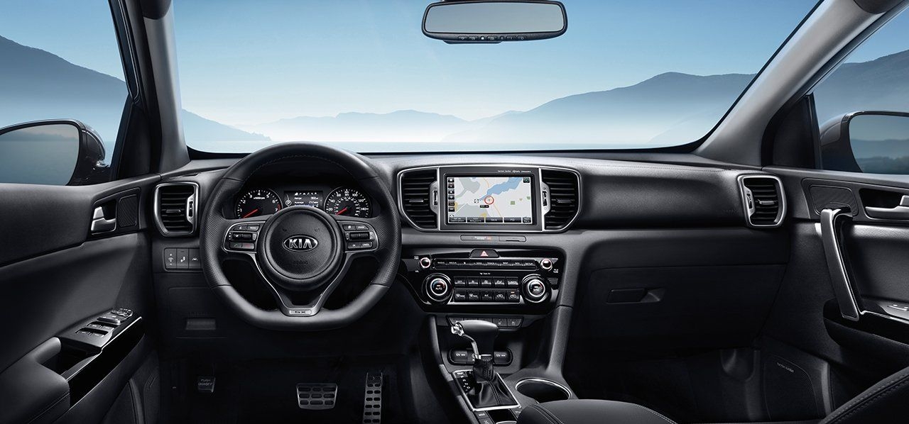 The Sportage's Well-Appointed Interior