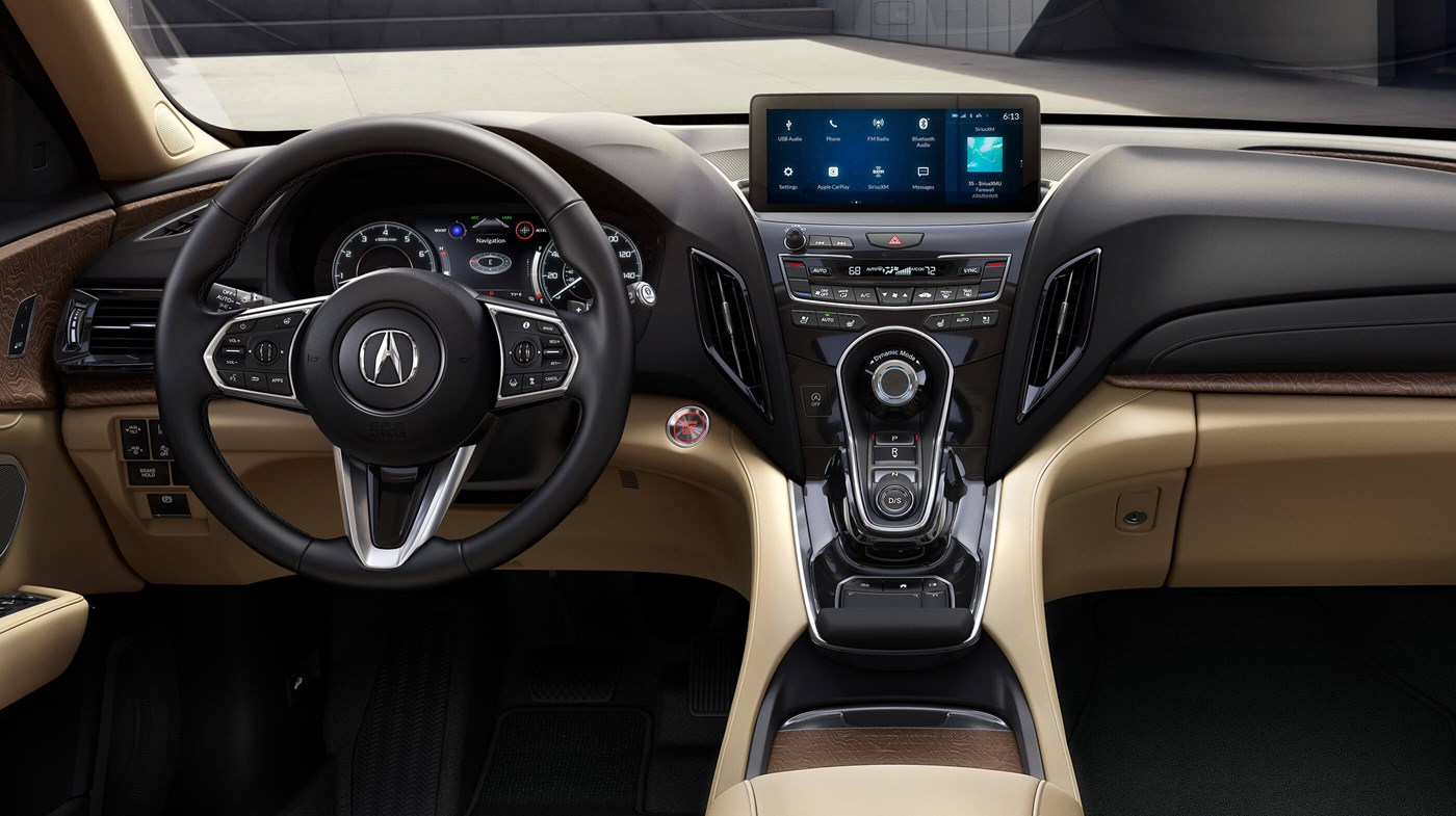 Interior of the Acura RDX