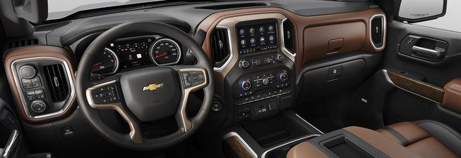 The Silverado 1500's Dash Is Loaded with Features