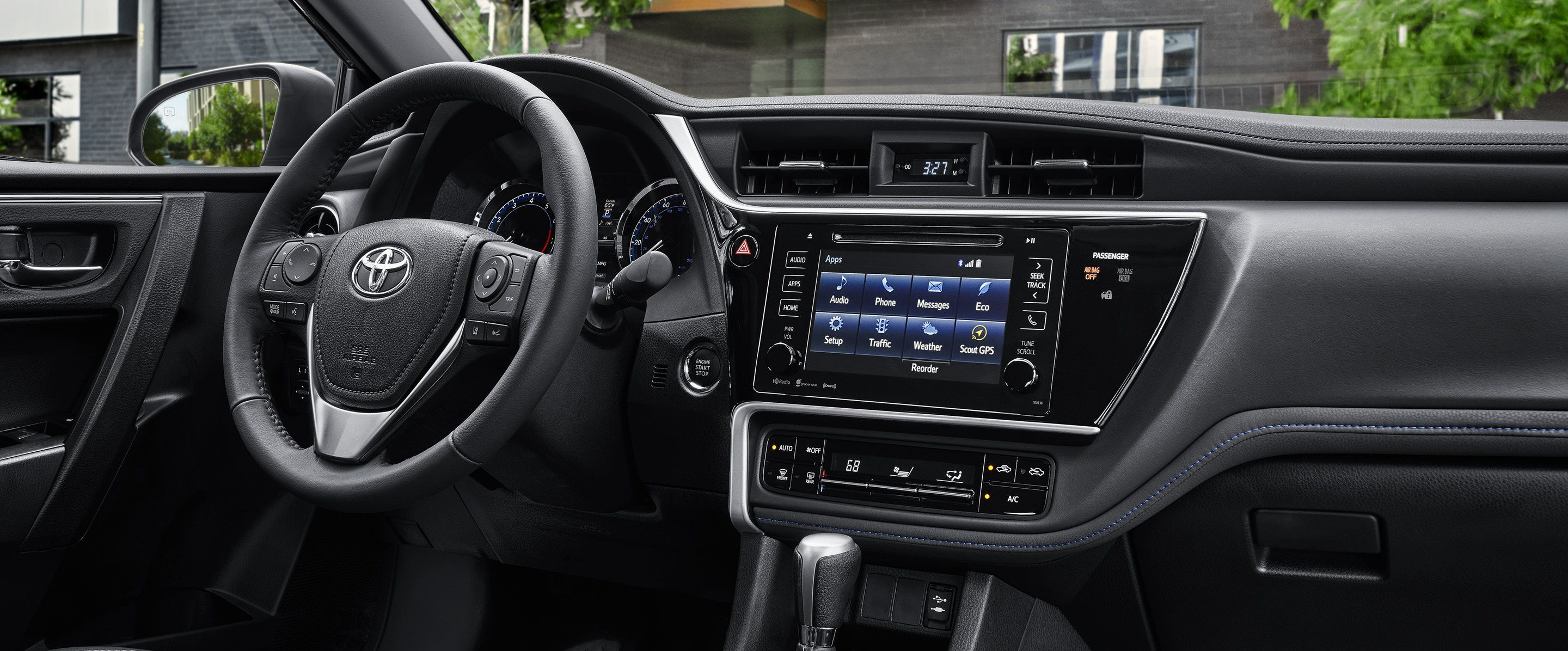 The Corolla's Well-Appointed Dashboard