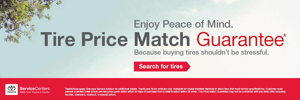 Enjoy peace of mind with our Price Match Guarantee. Search for Tires