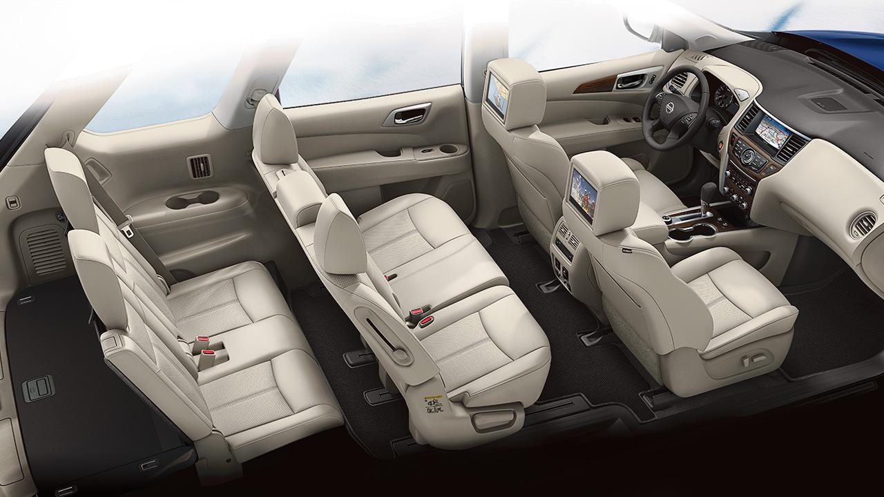 Interior of the 2019 Nissan Pathfinder