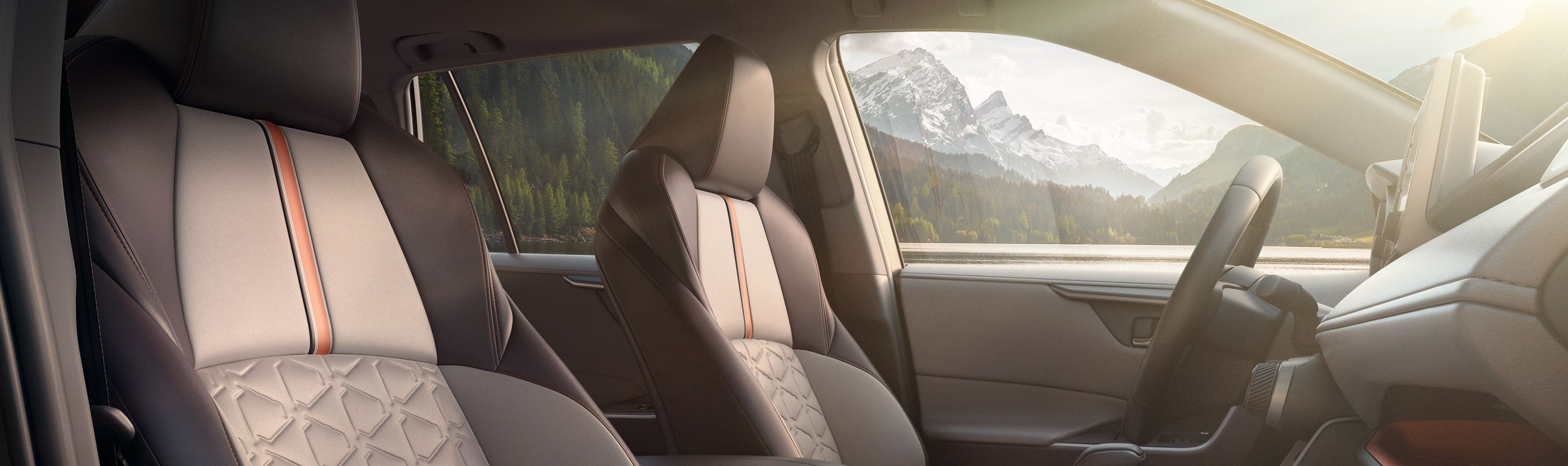 Front Seats of the 2019 RAV4