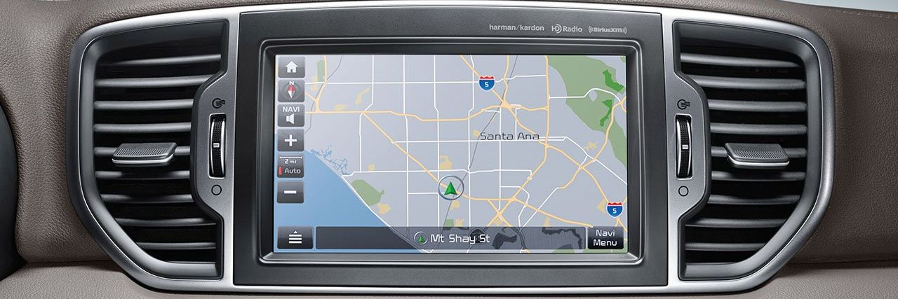 Navigation in the Kia Sportage