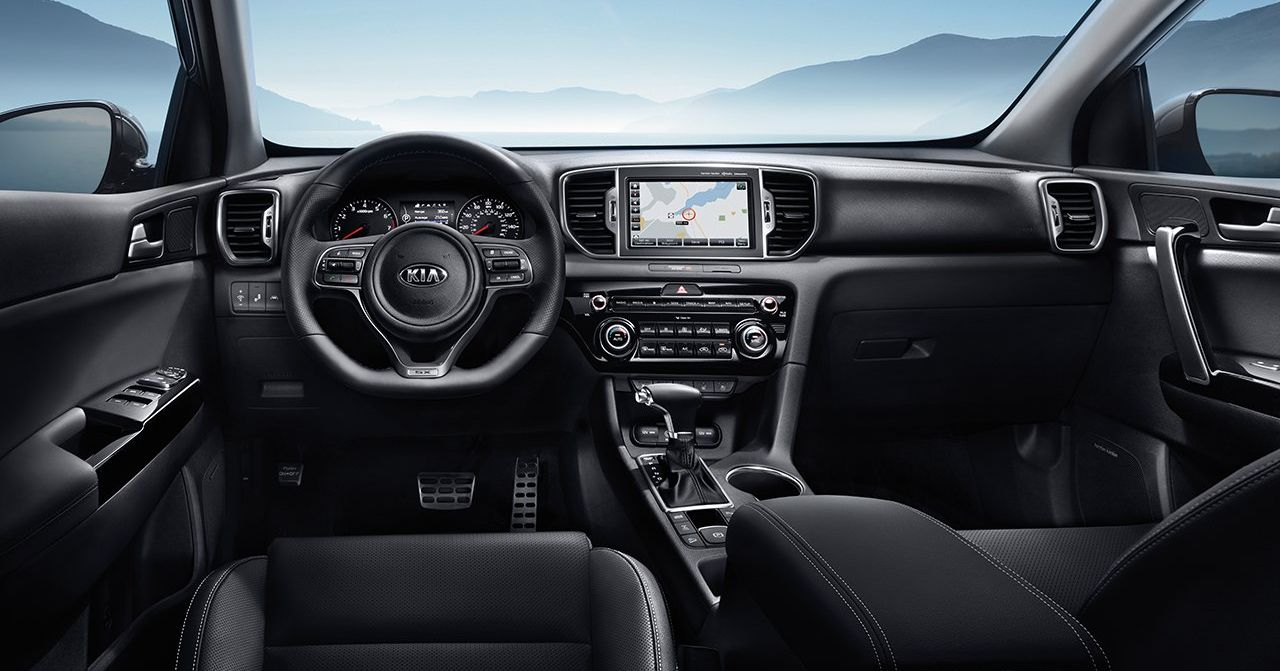 Interior of the 2019 Sportage