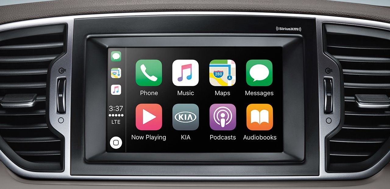 Apple CarPlay in the 2019 Sportage
