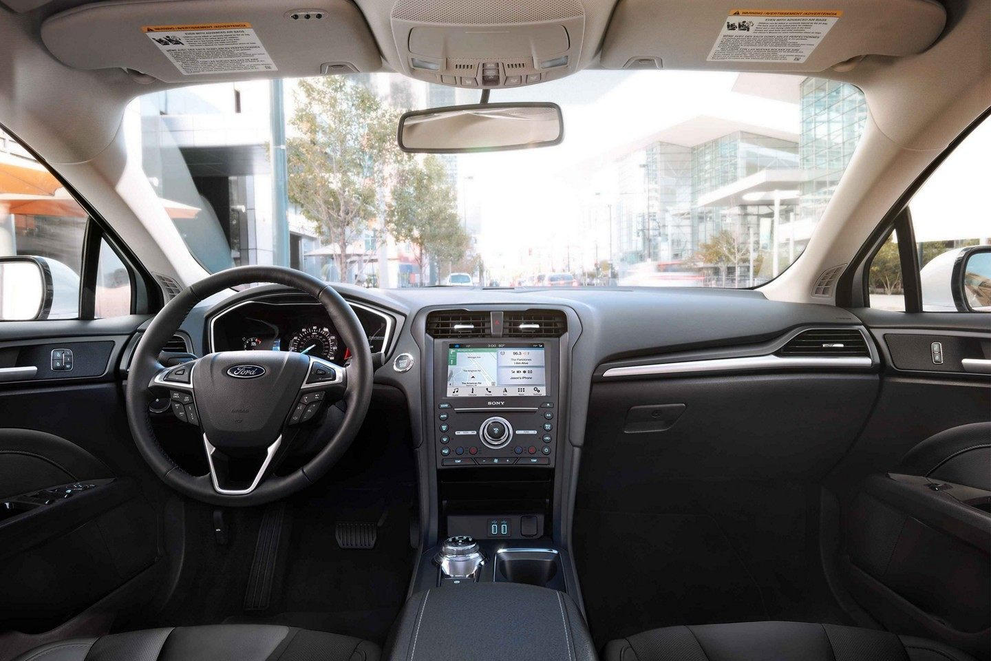 Interior of the 2019 Ford Fusion