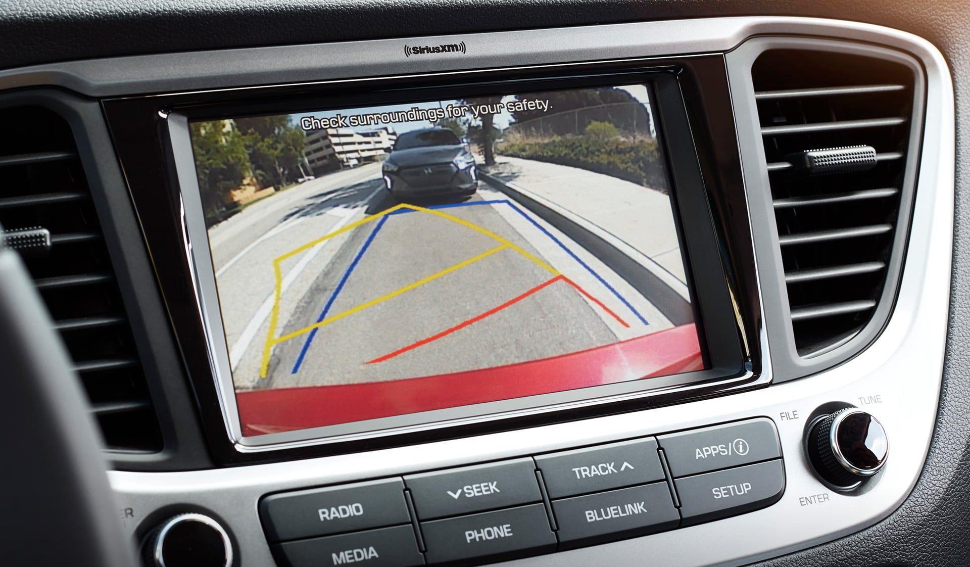 RearView Camera in the Accent