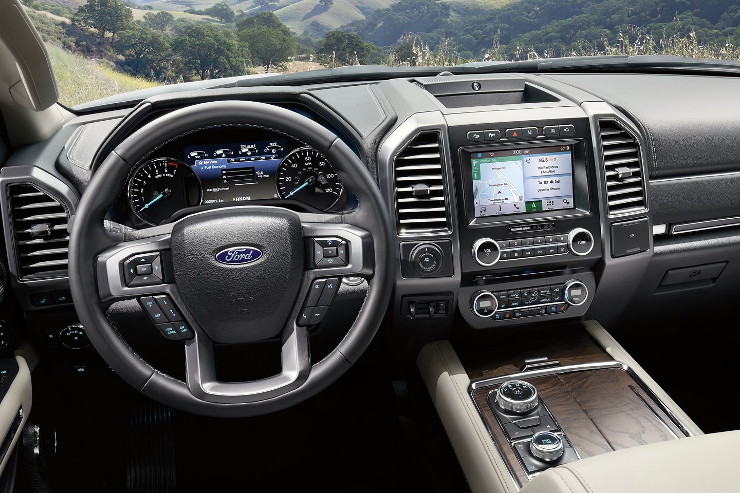 Interior of the 2019 Ford Expedition