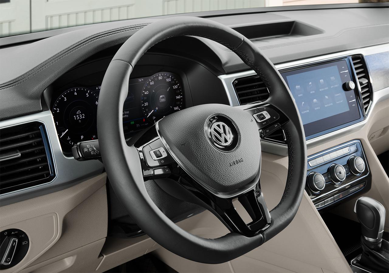 Interior of the 2019 Volkswagen Atlas