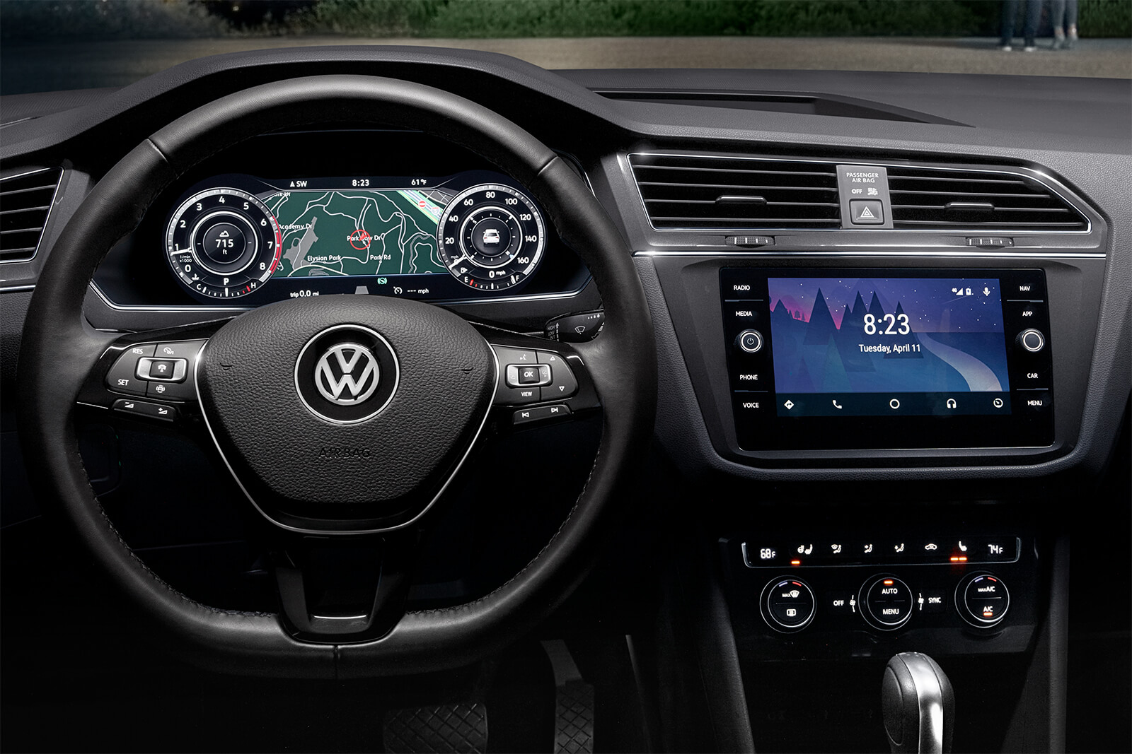 Interior of the 2019 Volkswagen Tiguan