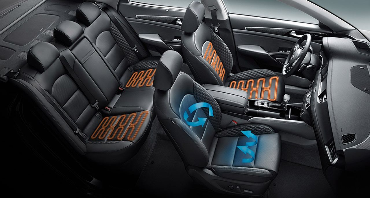 Heated and Ventilated Seats in the Kia Cadenza