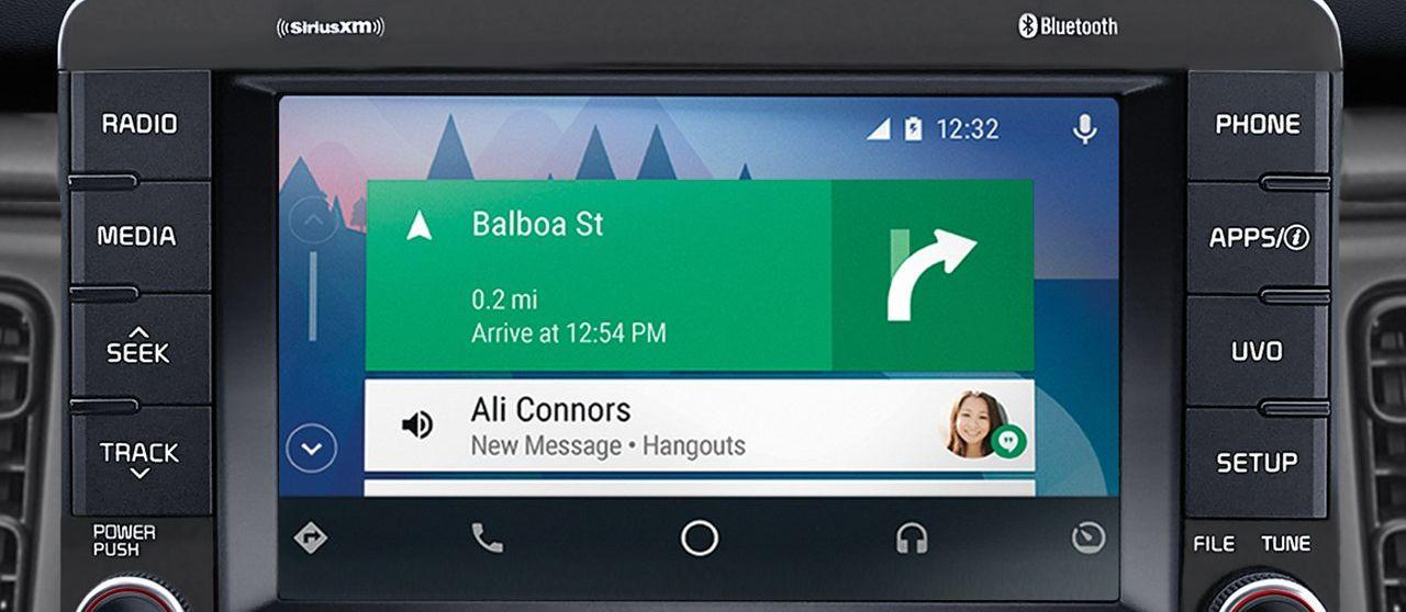 Android Auto in the 2019 Rio