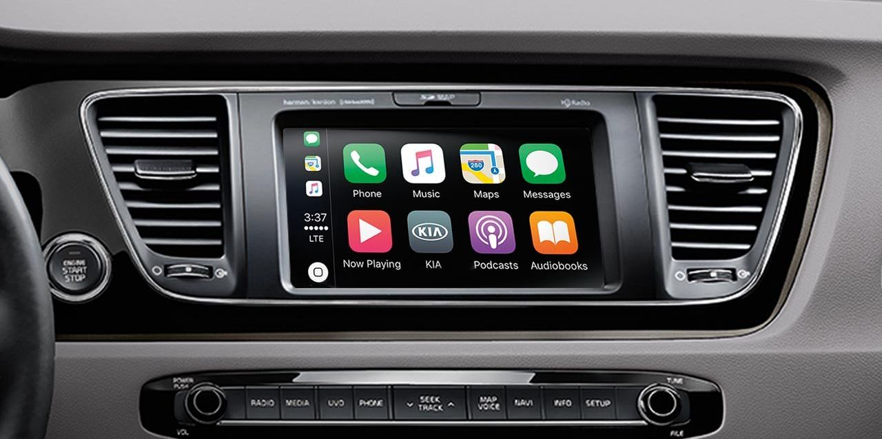 Apple CarPlay in the Kia Sedona