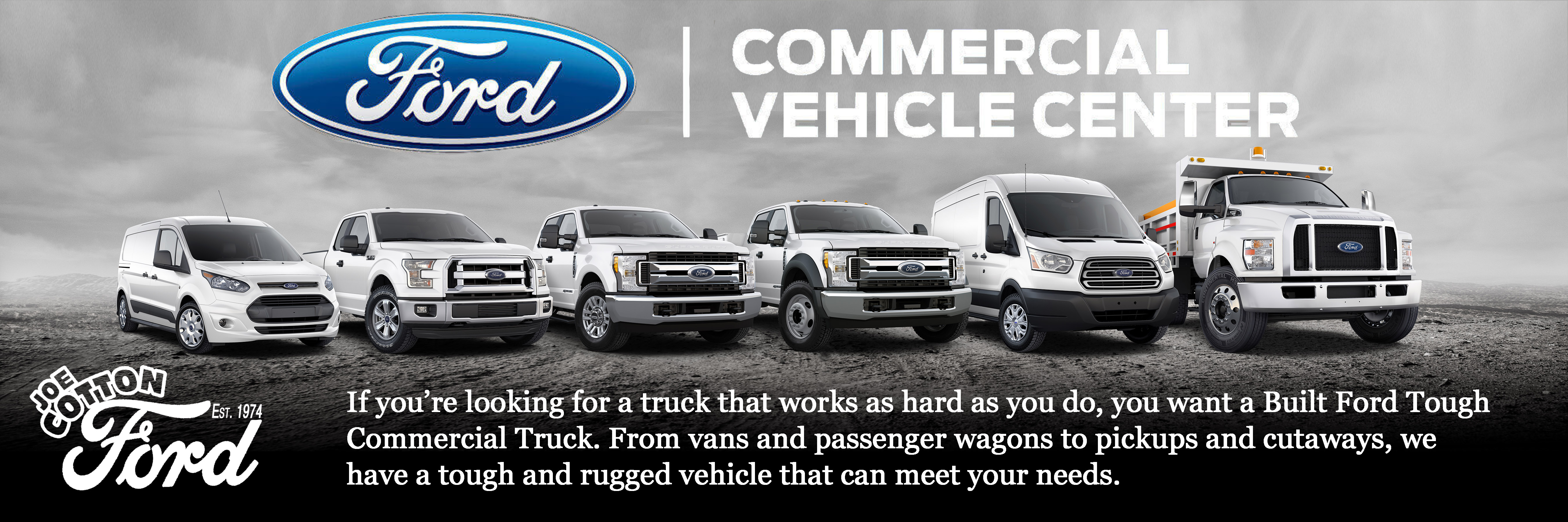 f2b0d3b678 Joe Cotton Ford Commercial Vehicle Center Near You