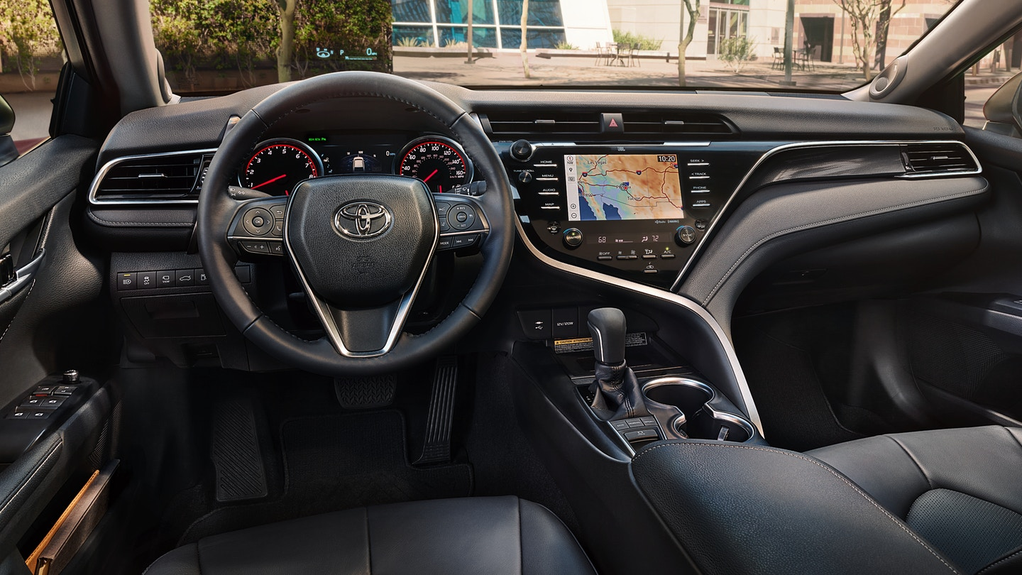 Cabin of the Toyota Camry