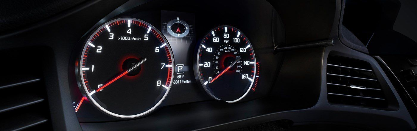 Instrument Cluster in the 2019 ILX