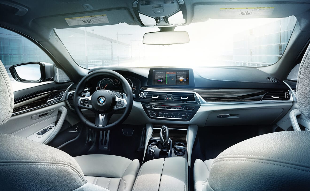 Interior of the 2019 BMW 5 Series