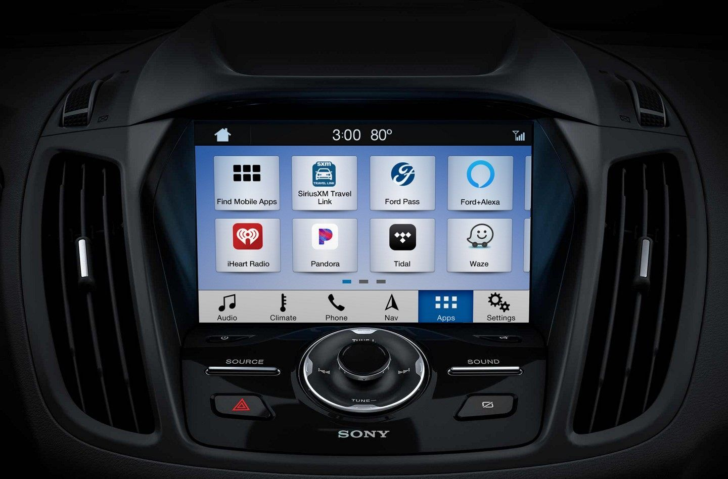 2019 Escape Infotainment Center