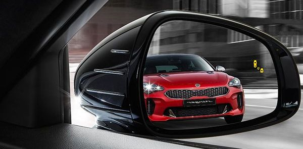 Blind Spot Collision Warning in the 2018 Kia Stinger