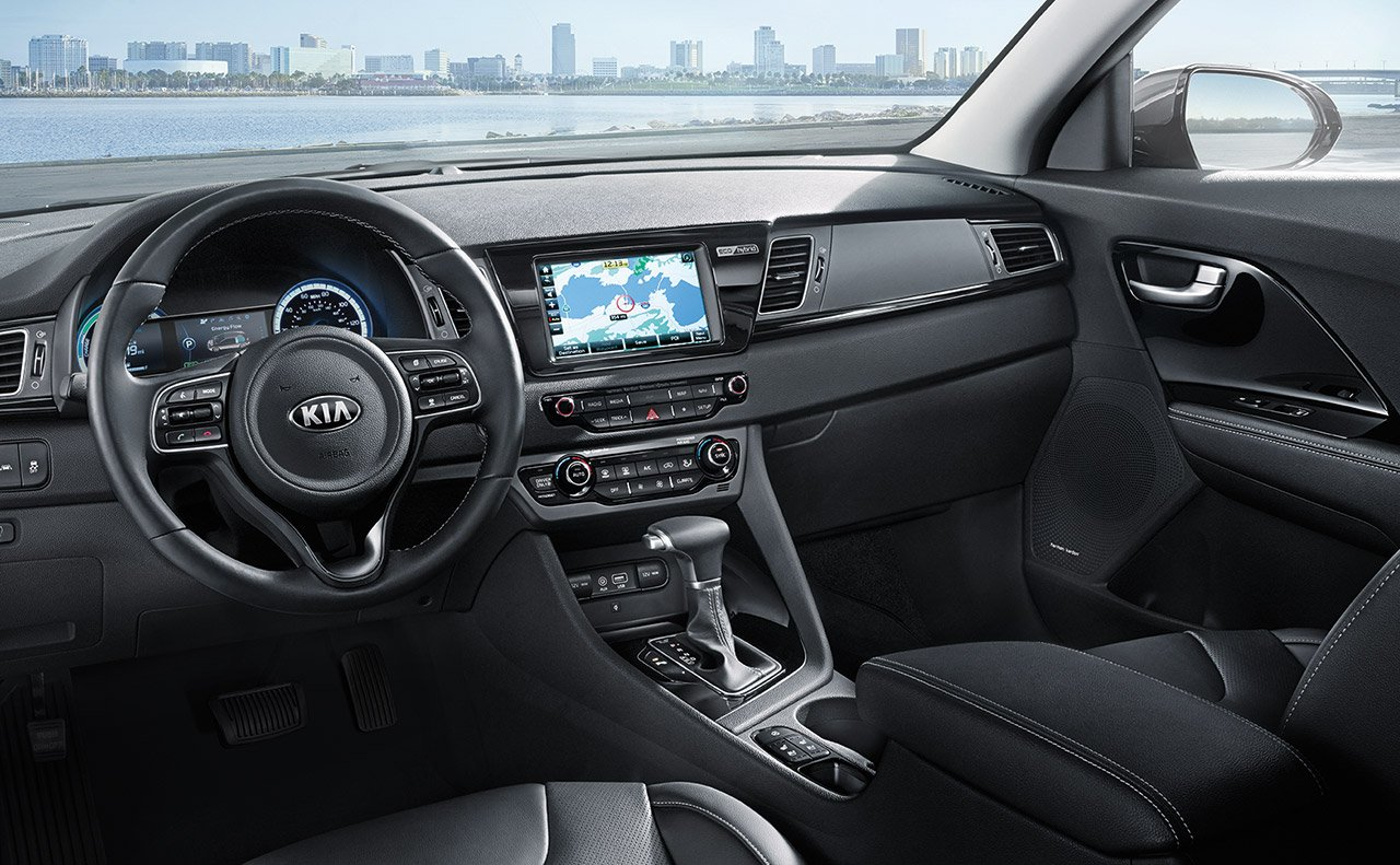 Interior of the 2019 Kia Niro