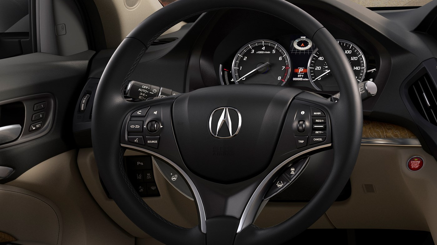 Steering Wheel in the Acura MDX