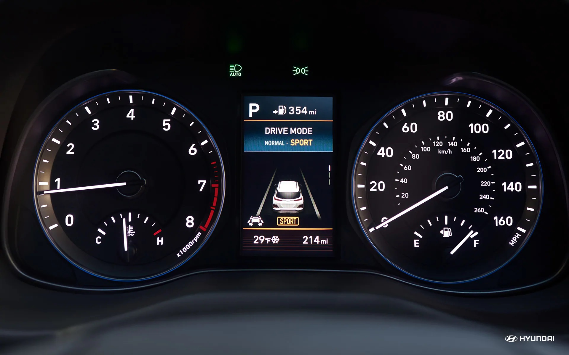 2019 Hyundai Kona Informational Display