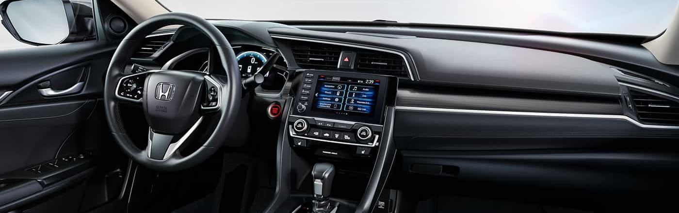 Interior of the 2019 Honda Civic