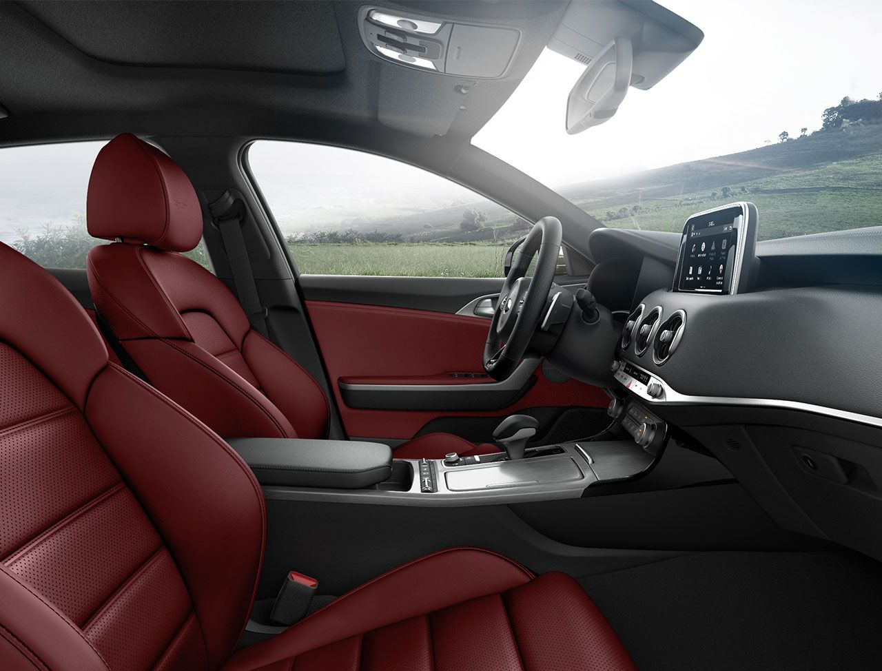 Interior of the 2019 Kia Stinger