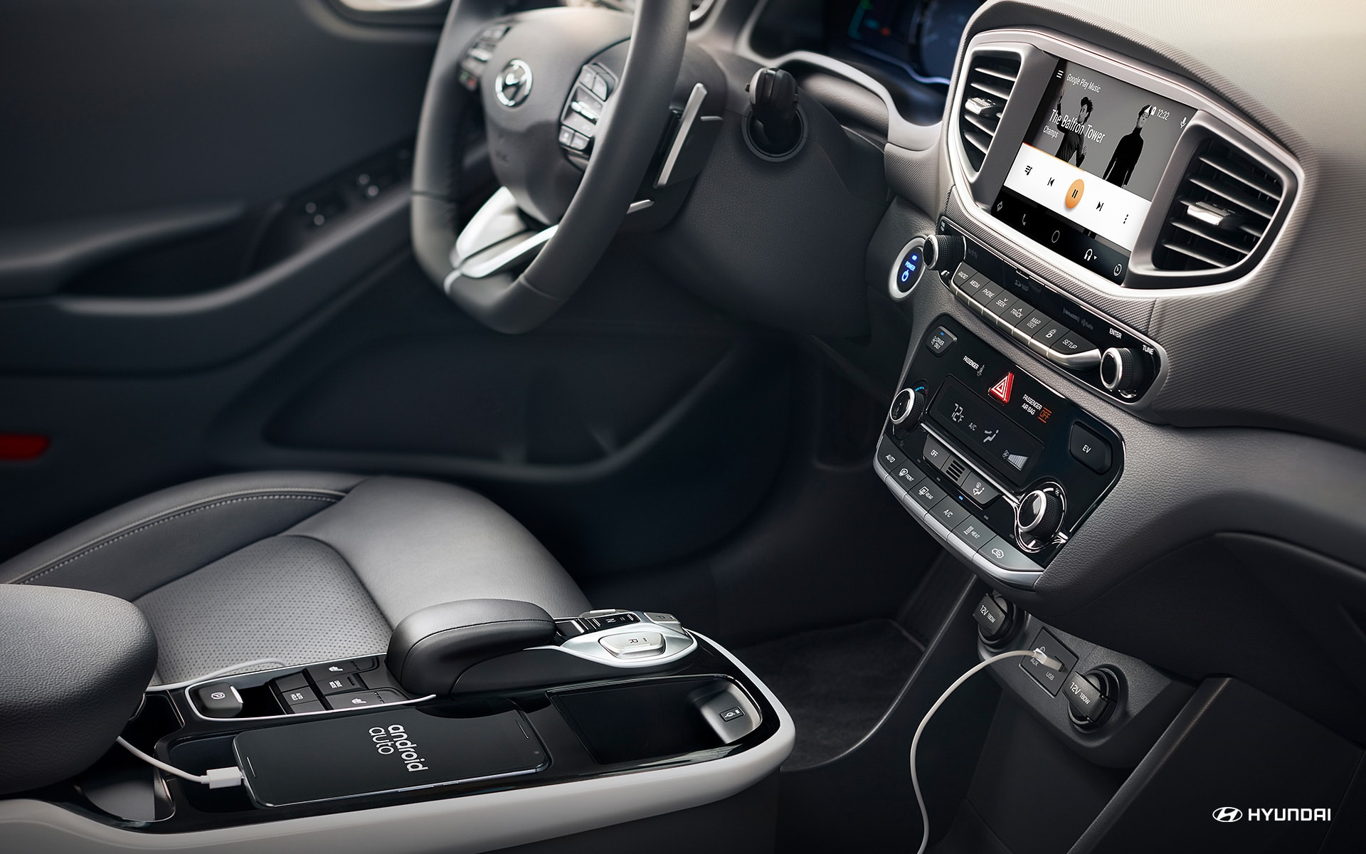 Advanced Cabin of the 2019 Ioniq Electric