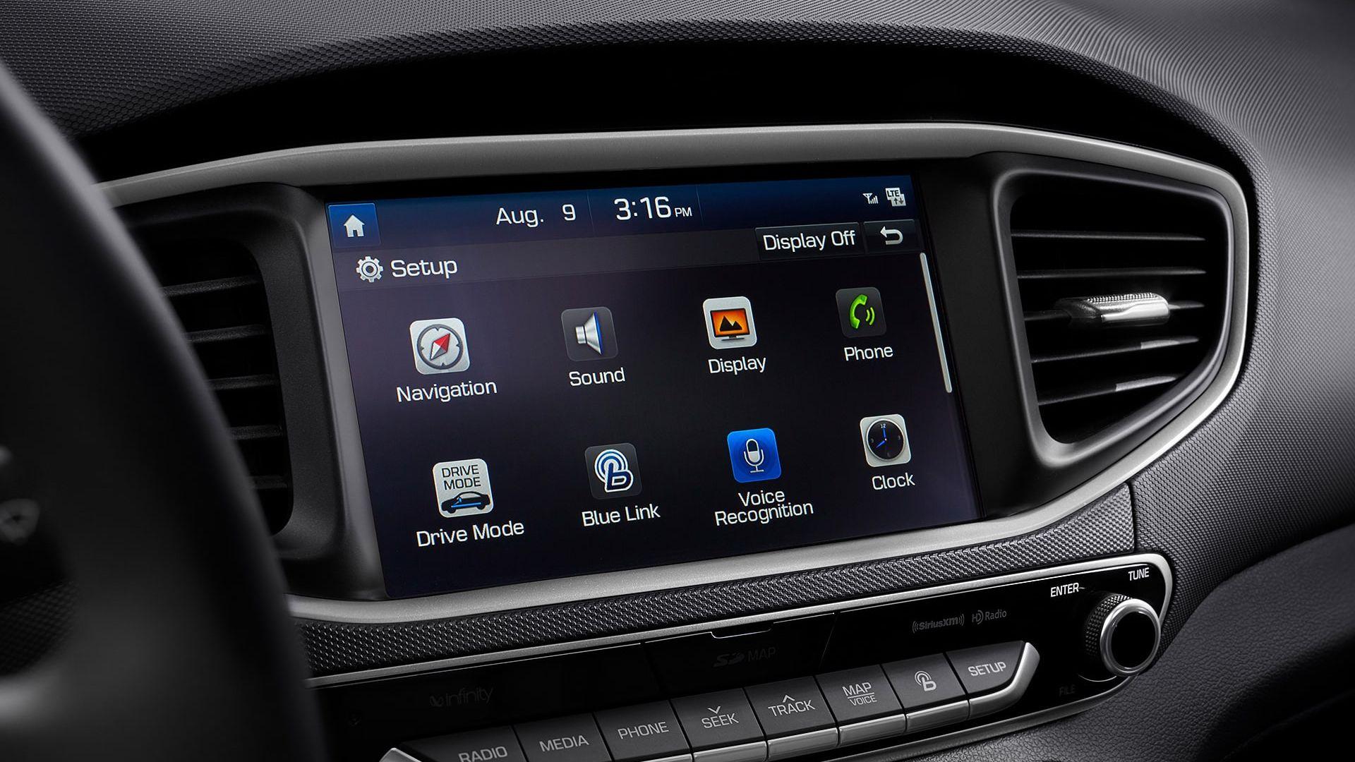 Touchscreen of the Hyundai Ioniq Electric