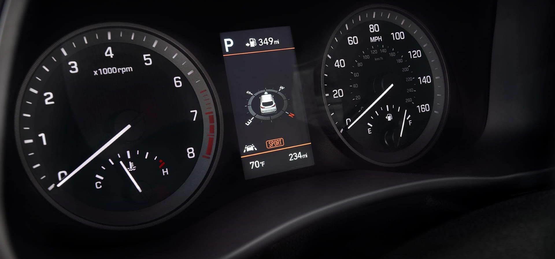 Instrument Cluster in the Hyundai Tucson