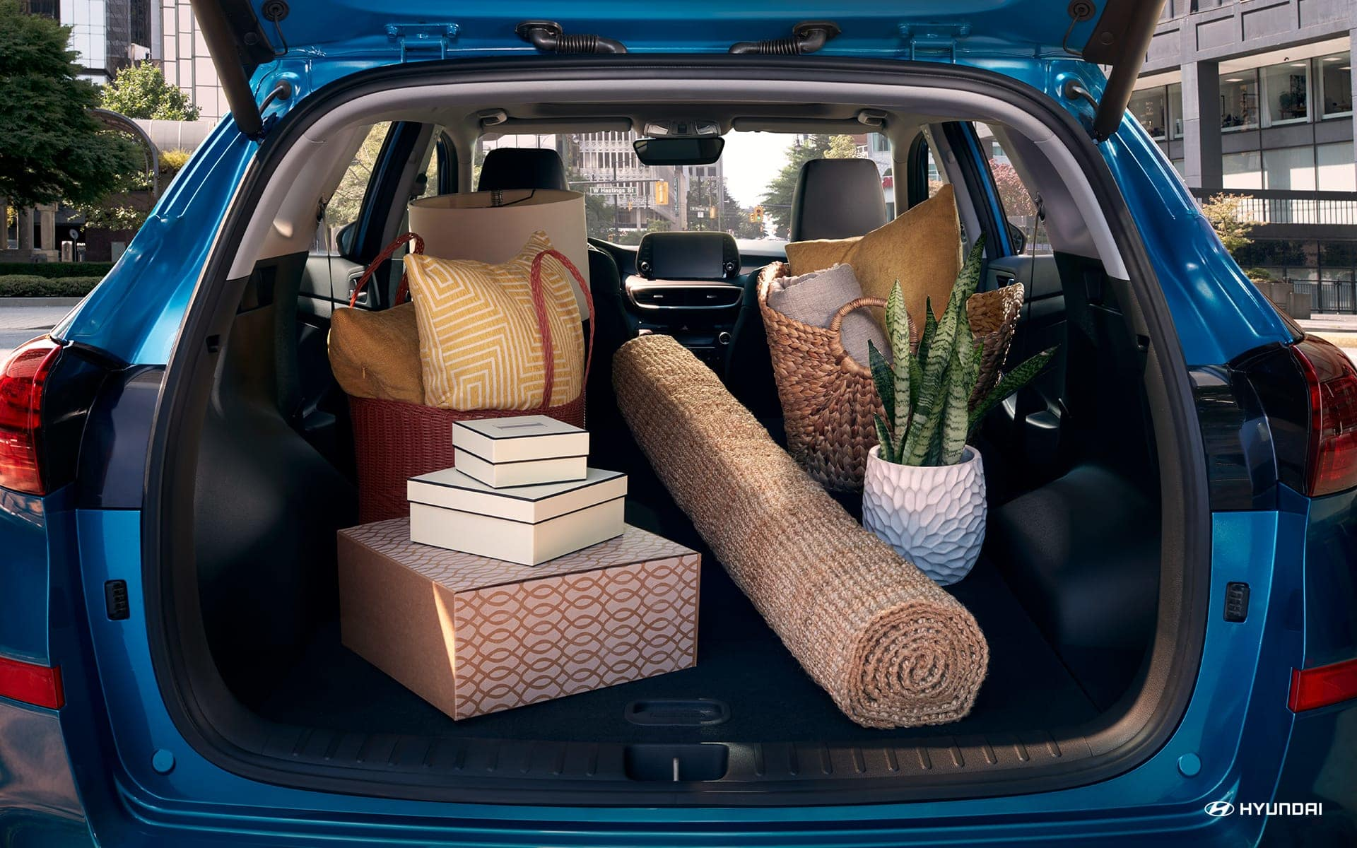 Commodious Storage Area in the Hyundai Tucson