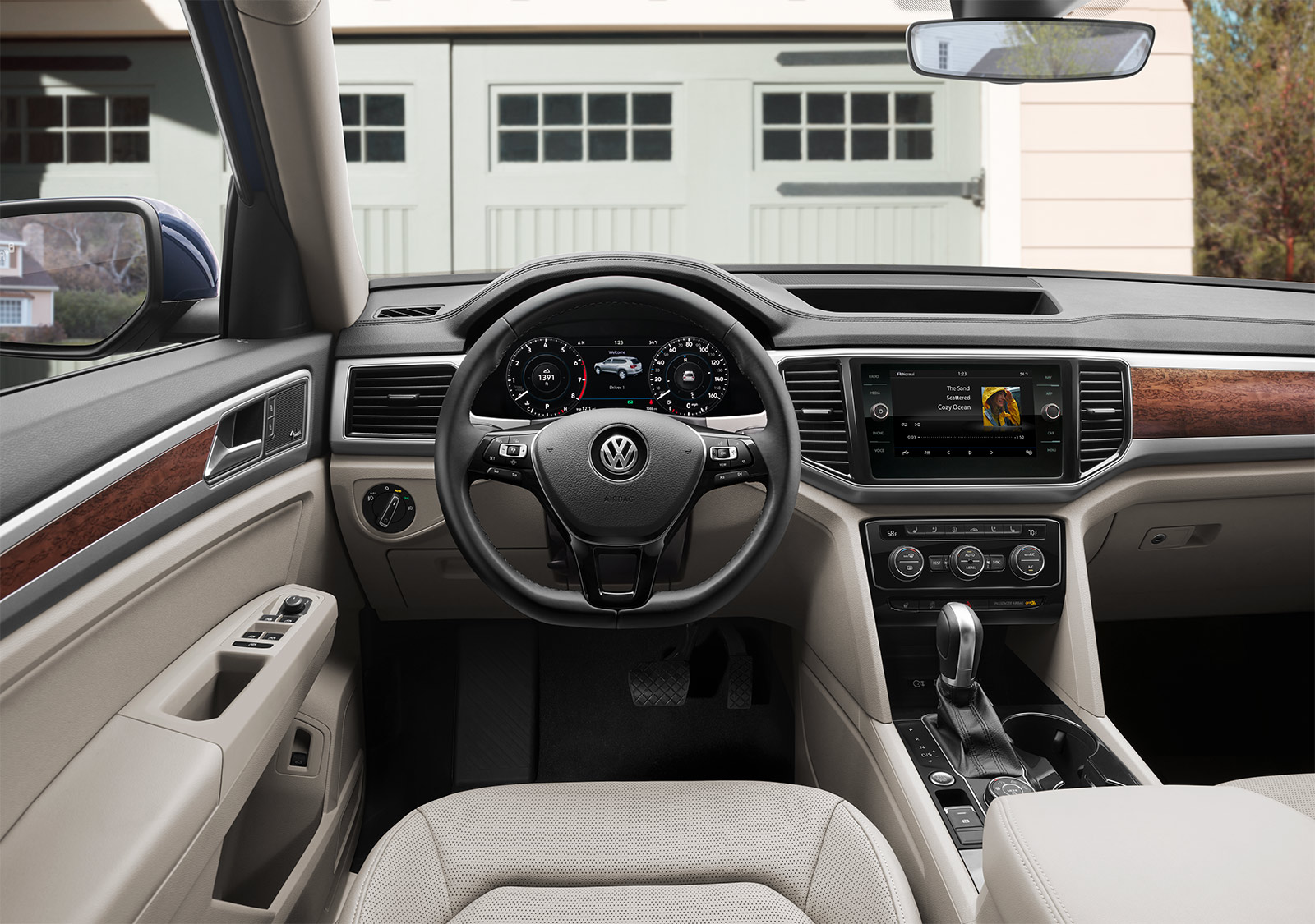 Interior of the 2019 Volkswagen Atlas
