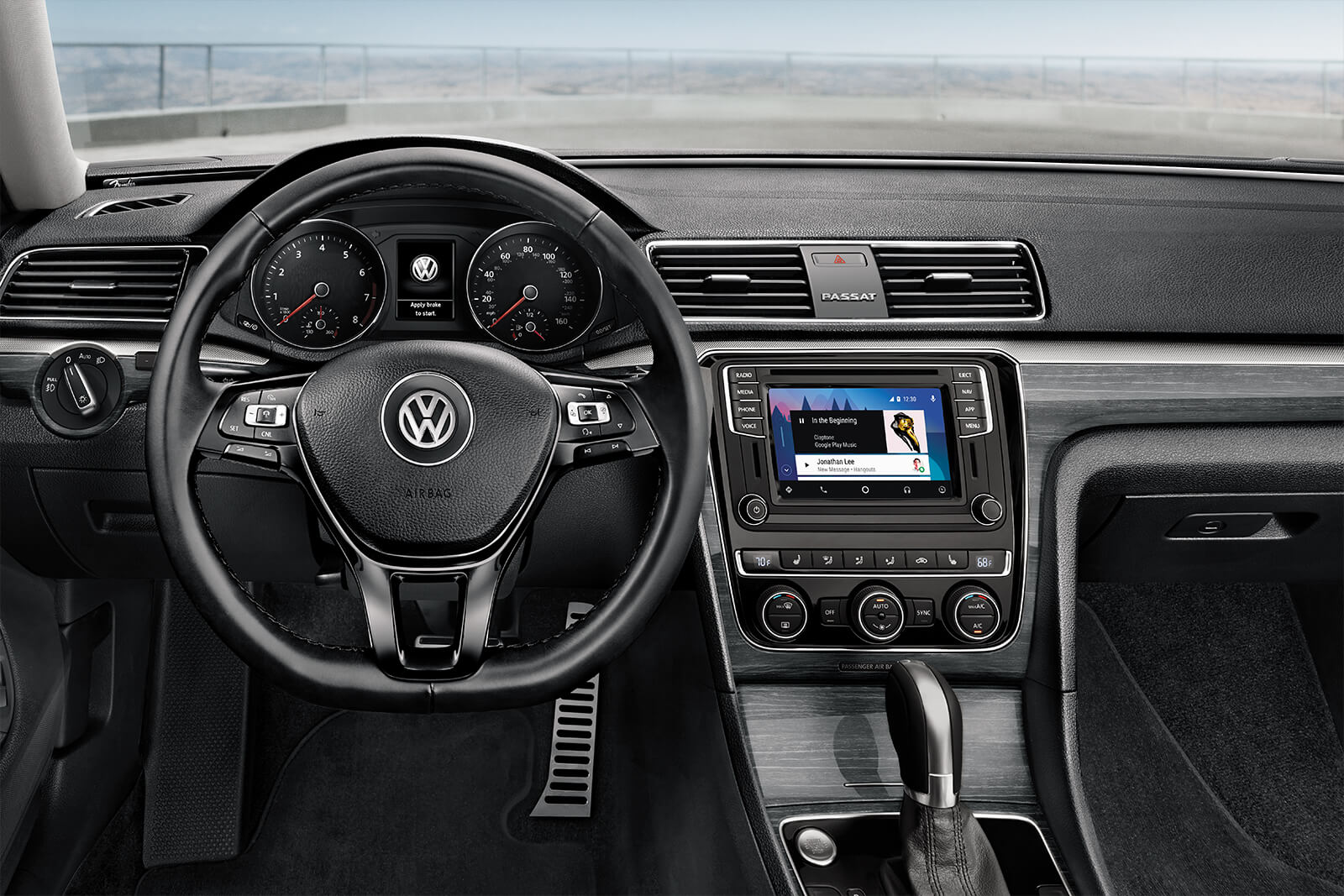 Interior of the 2019 Volkswagen Passat
