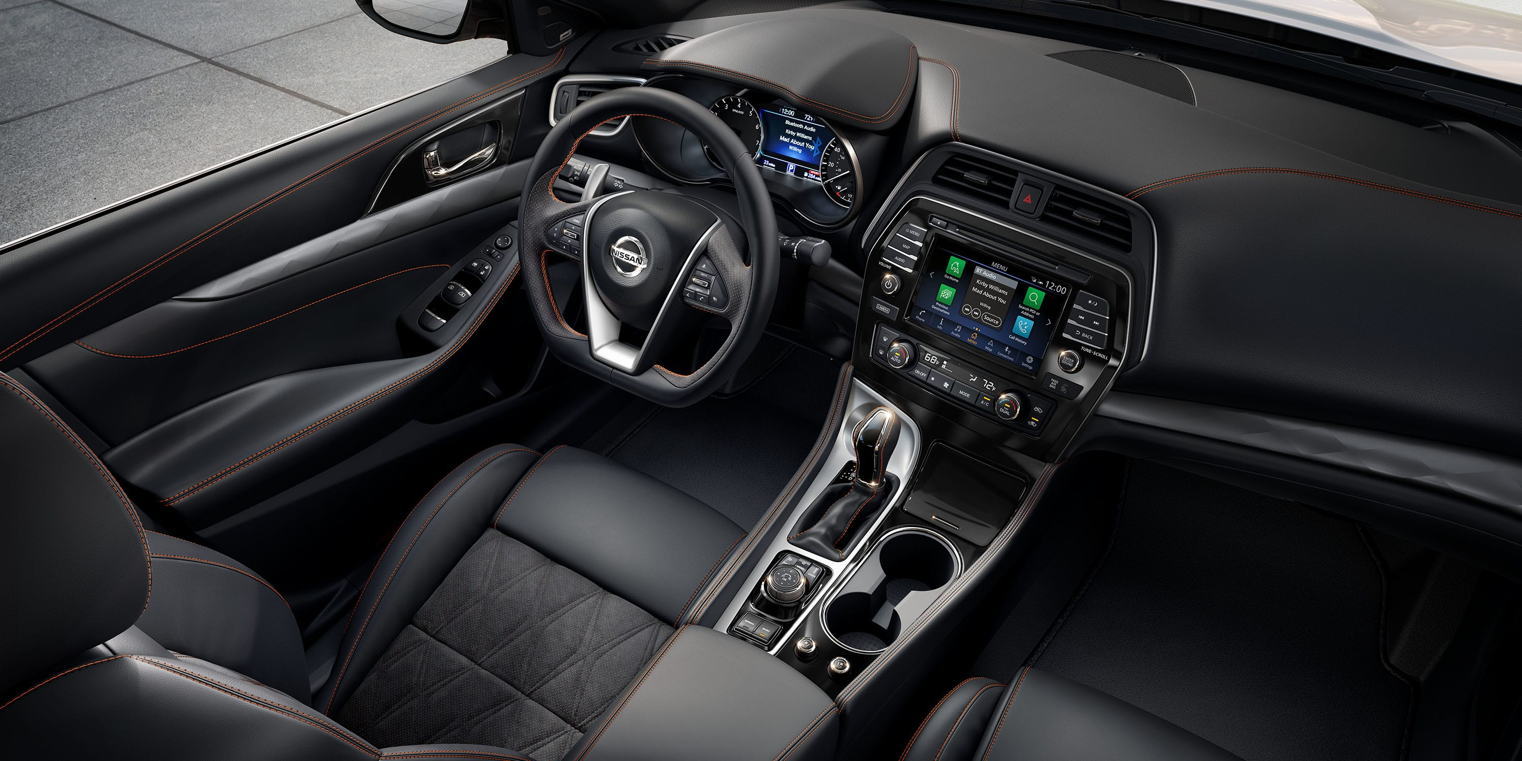 Interior of the 2019 Nissan Maxima