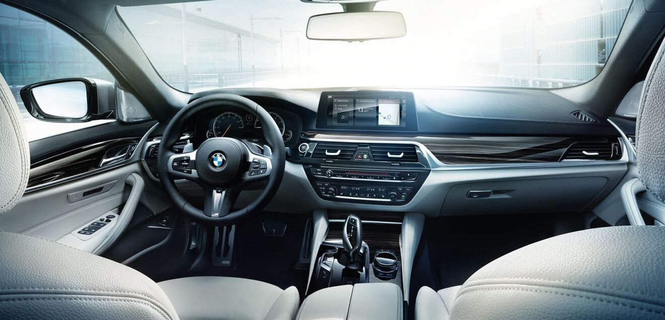 Cabin of the 2019 BMW 5 Series