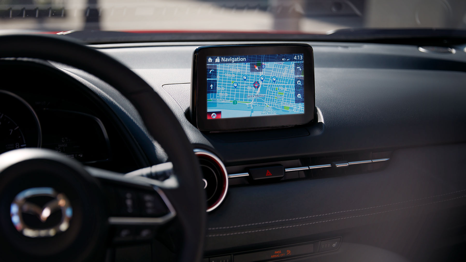 Touchscreen in the 2019 Mazda CX-3