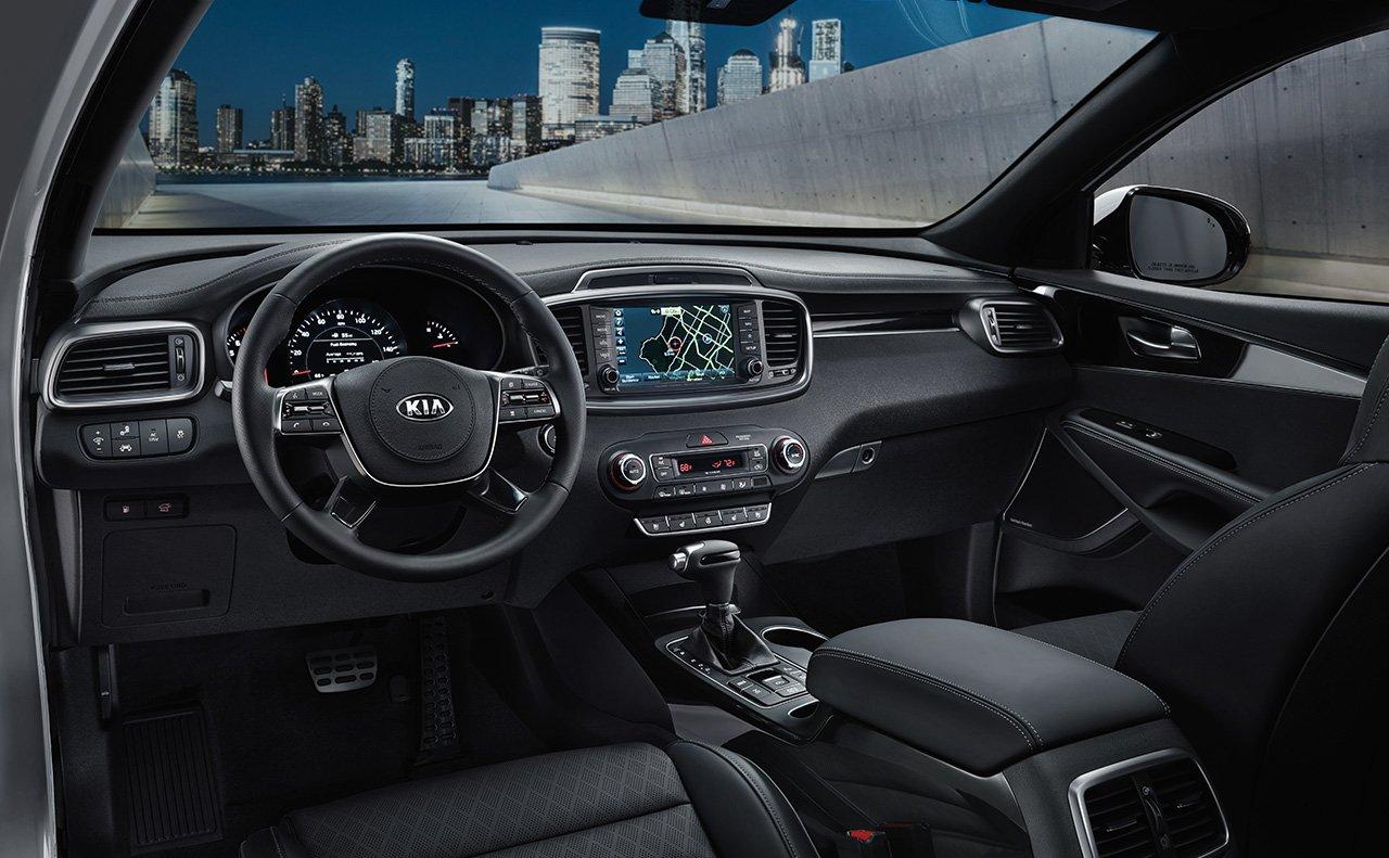 Interior of the 2019 Kia Sorento