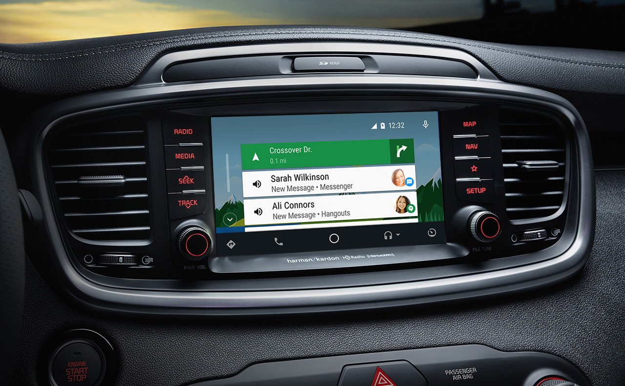 Touchscreen Display in the 2019 Sorento