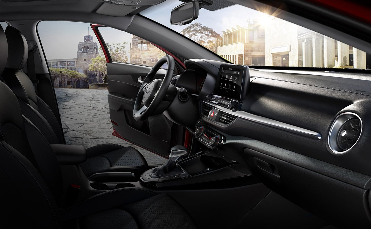 Cabin of the Kia Forte