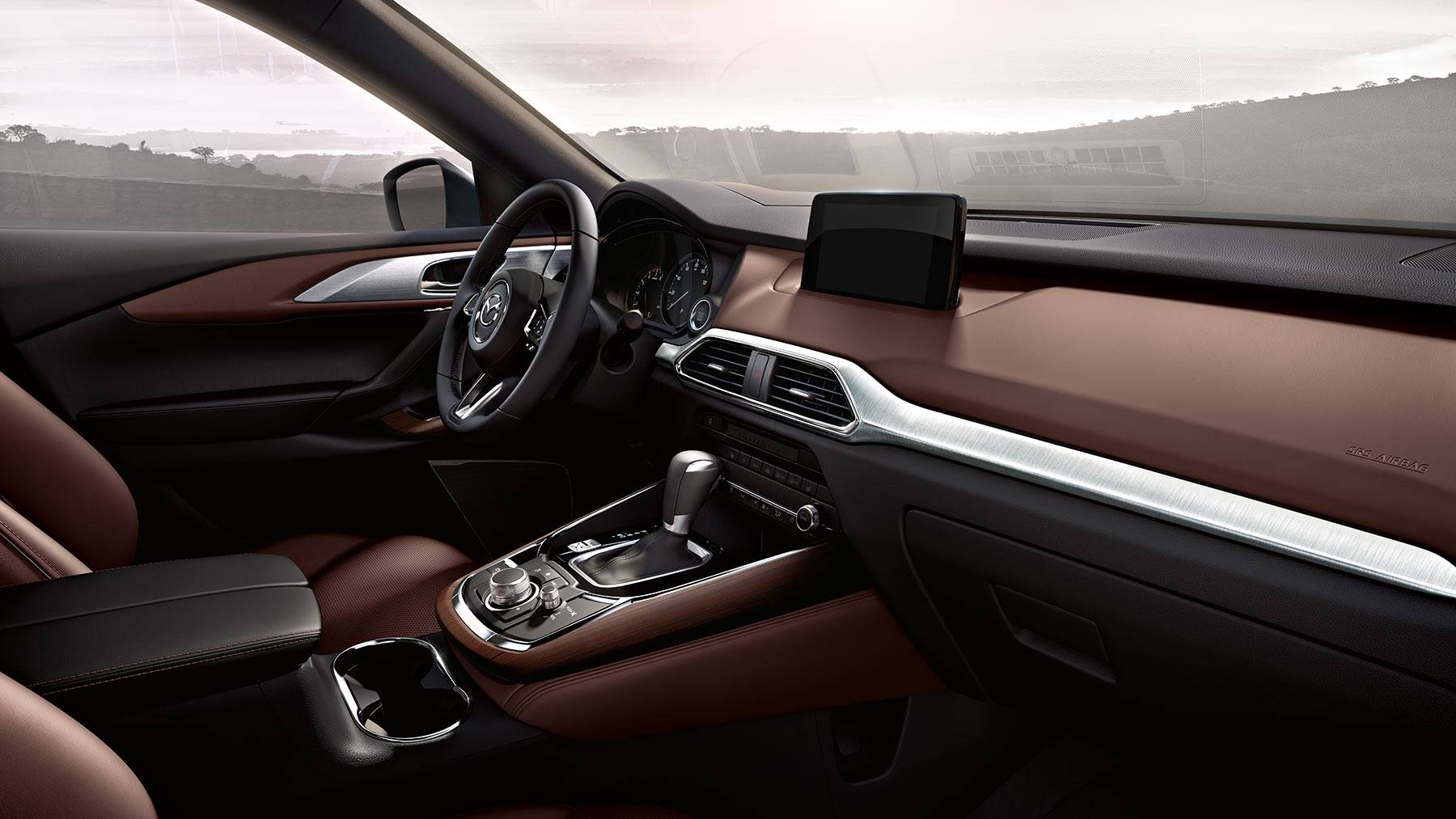 Interior of the 2019 Mazda CX-9