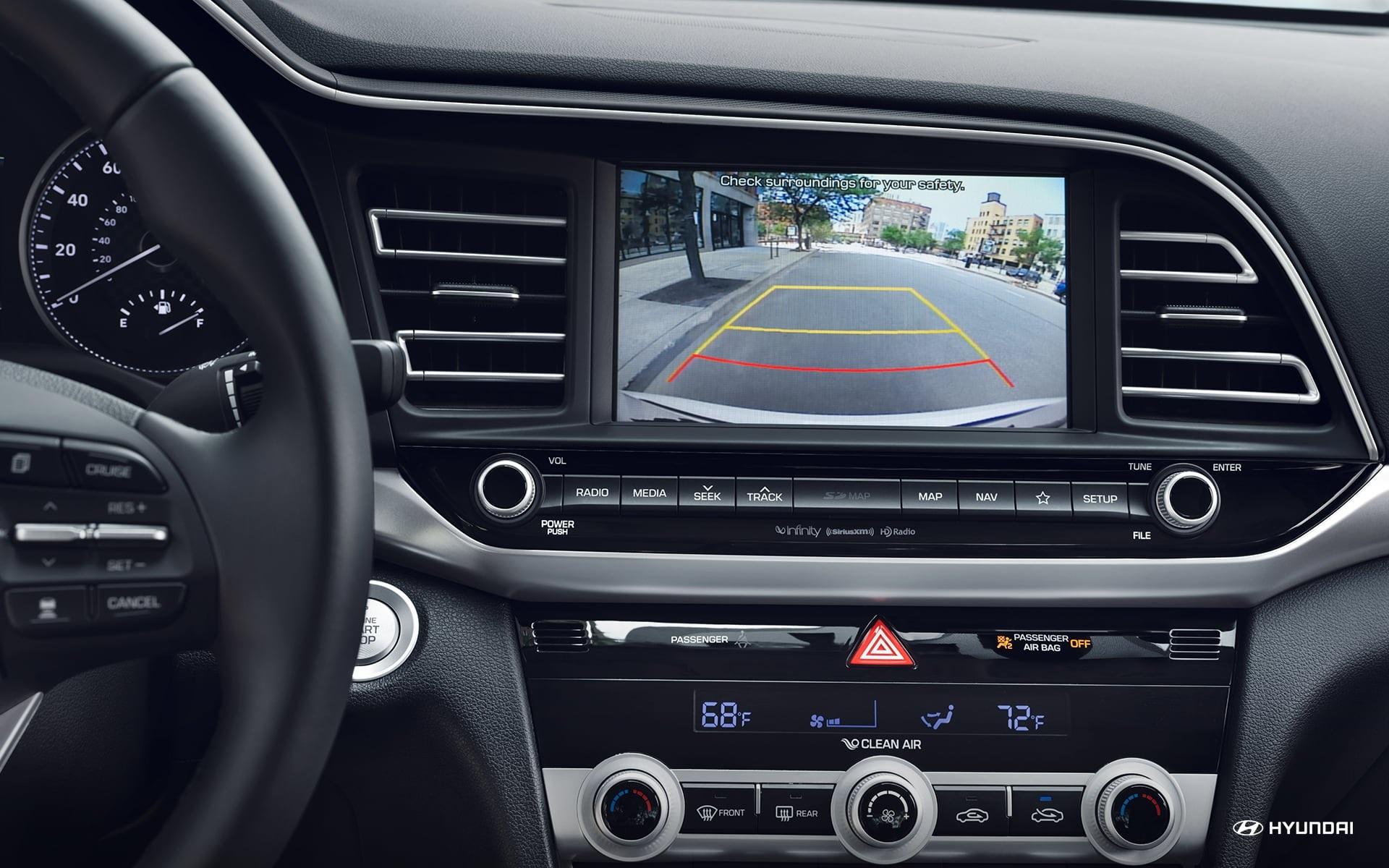 Cámara retrovisora del Hyundai Elantra 2019