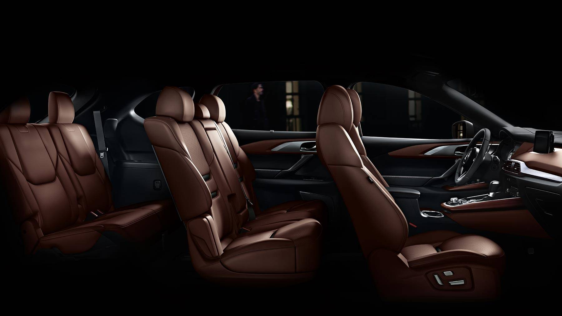 Interior of the 2019 Mazda CX-9