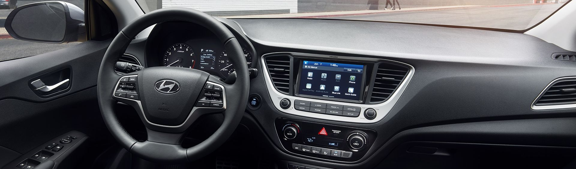 Front Seat of the 2019 Accent
