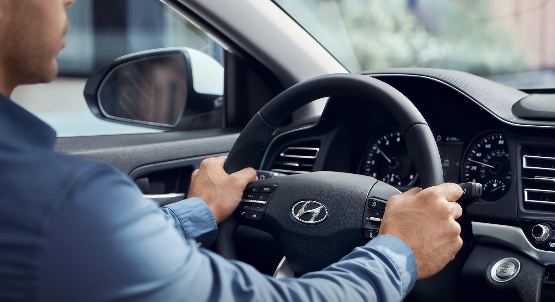 Cockpit of the Hyundai Elantra