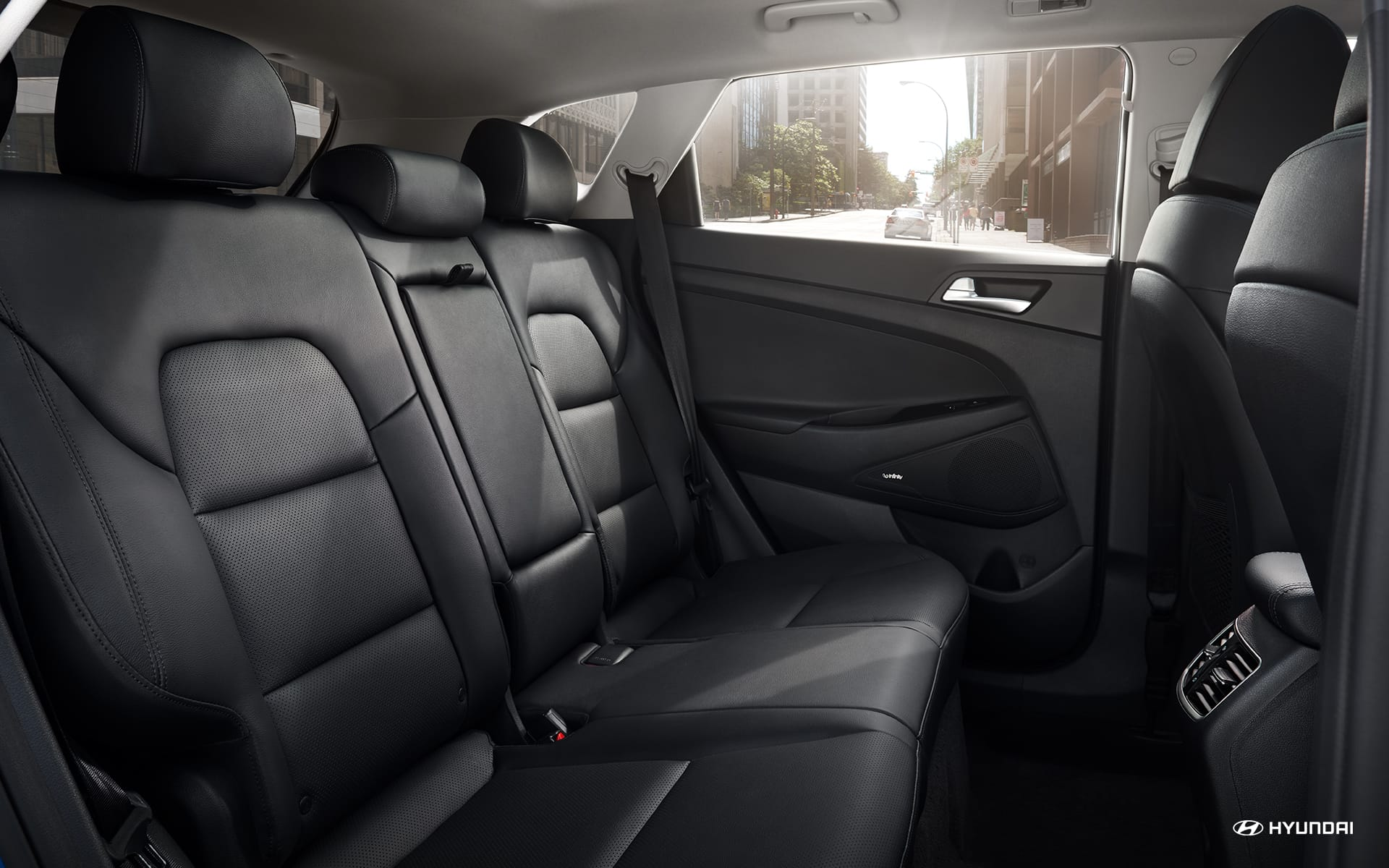 Roomy Backseat of the Hyundai Tucson