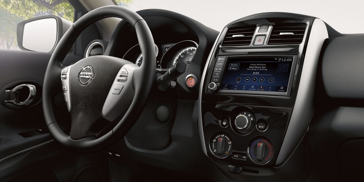 Interior of the 2019 Nissan Versa